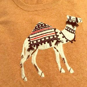 J crew xxl camel sweater